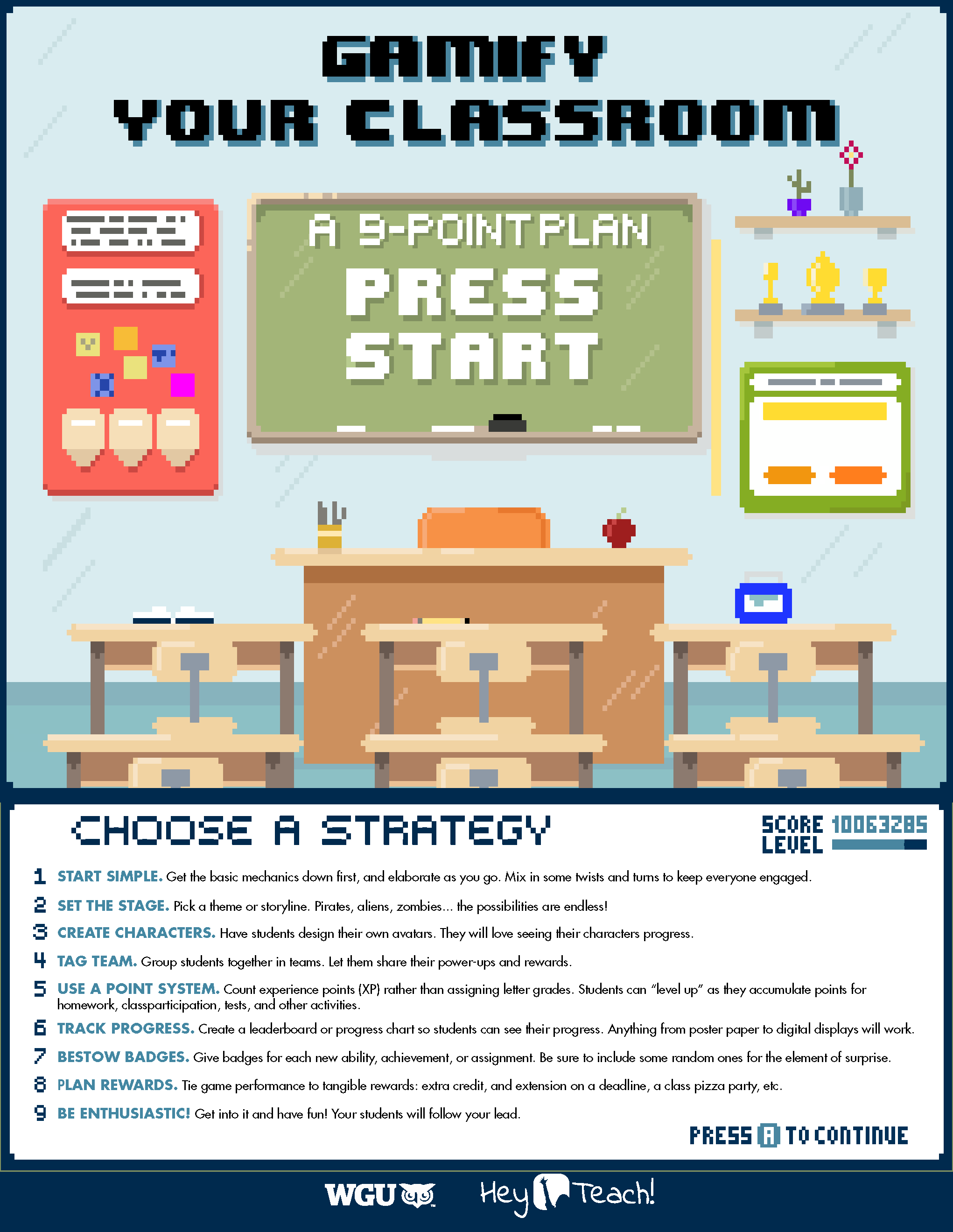 Infographic on classroom gamification techniques