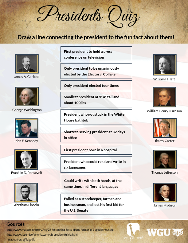 Presidents Quiz