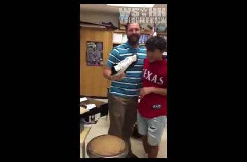 Student Buys His Teacher A Pair Of Air Jordan 12's That He Always Wanted!