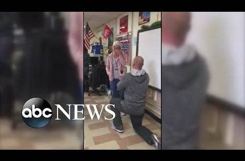 5th graders erupt in excitement as teacher proposes in class