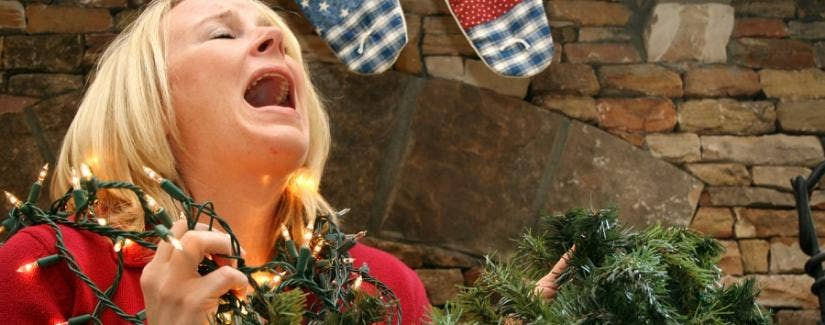 A teacher is overwhelmed with holiday cheer