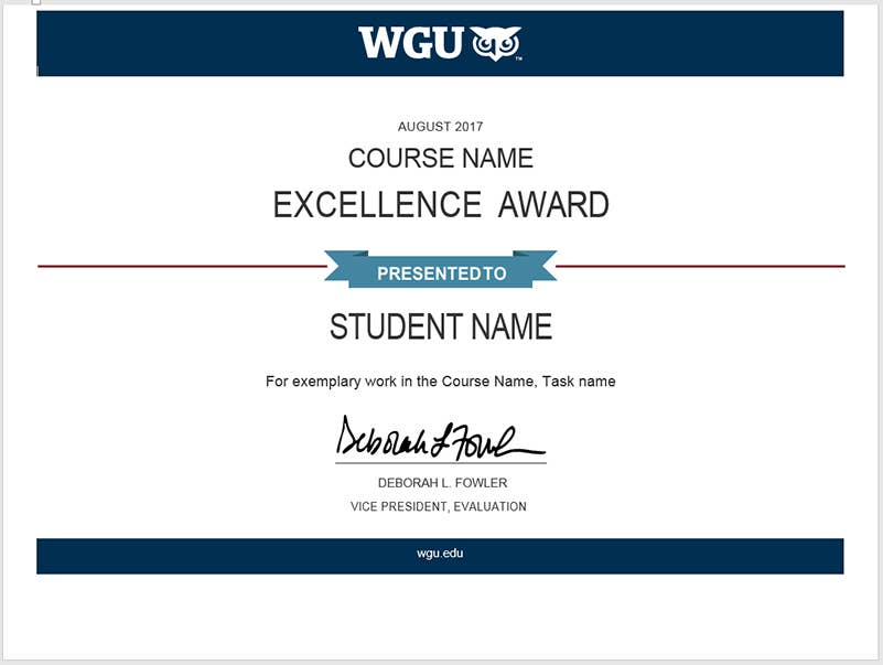 What Do You Know About The WGU Excellence Awards