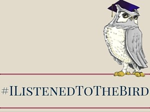 Listening to the bird graphic
