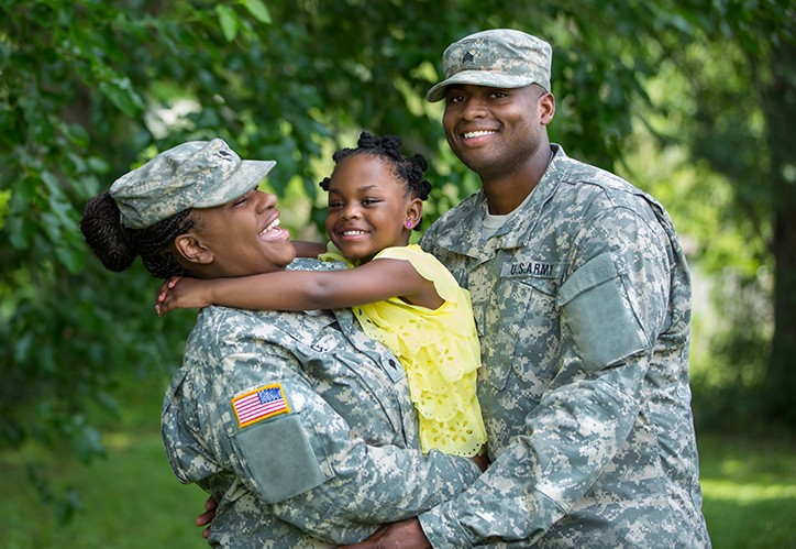 Military family happy