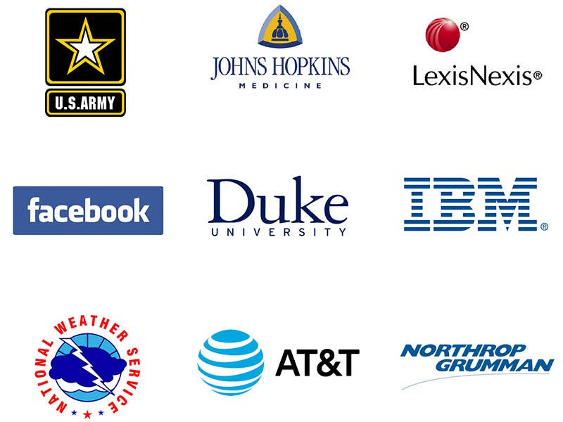 WGU Graduates hold positions with major employers like Johns Hopkins, LexisNexis, IBM, Duke University, Facebook, AT&T, Northrop Grumman