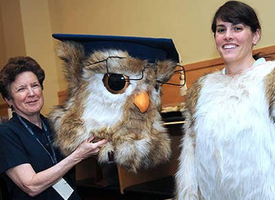 Sage unmasked many a lucky staffer has been able to embody WGU's hallowed mascot