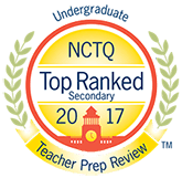 Top Ranked by NCTQ and Teacher Prep Review