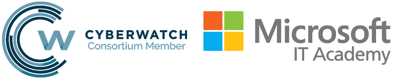 National Cyberwatch Center and Microsoft IT Academy logos