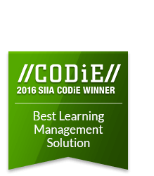 2016 CODiE SIIA Award Winner for Best Learning Management Solution