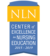 NLN National League for Nursing Center of Excellence in Nursing Education 2015-2019 recognition