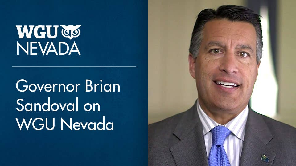 Nevada Governor Brian Sandoval talks about how WGU Nevada benefits NV residents